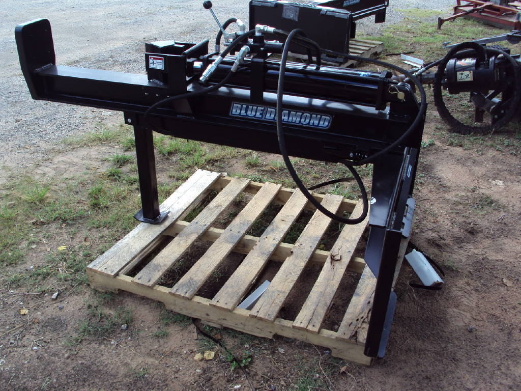 0 Blue Diamond Log Splitter For A Skid Steer Or Tractor For