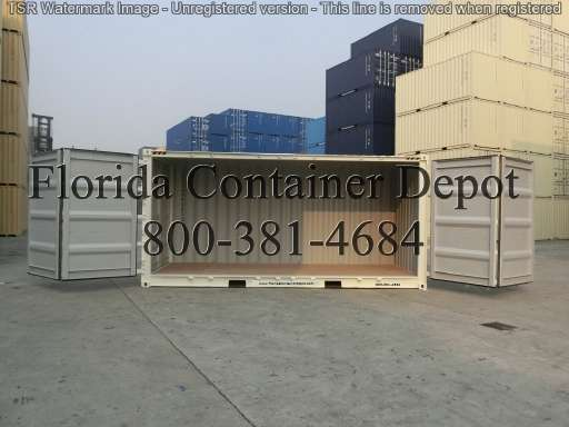 SHIPPING CONTAINER 20ft side opener One trip