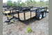 2021 TRIPLE CROWN 6X14TA UTILITY TRAILER with 2ft. mesh sides and no brak