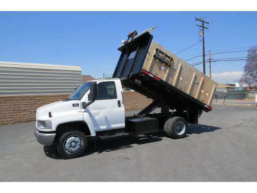 2003 Chevrolet-Gmc C5500 12 Ft  Stakebed Flat Bed Dump Truck